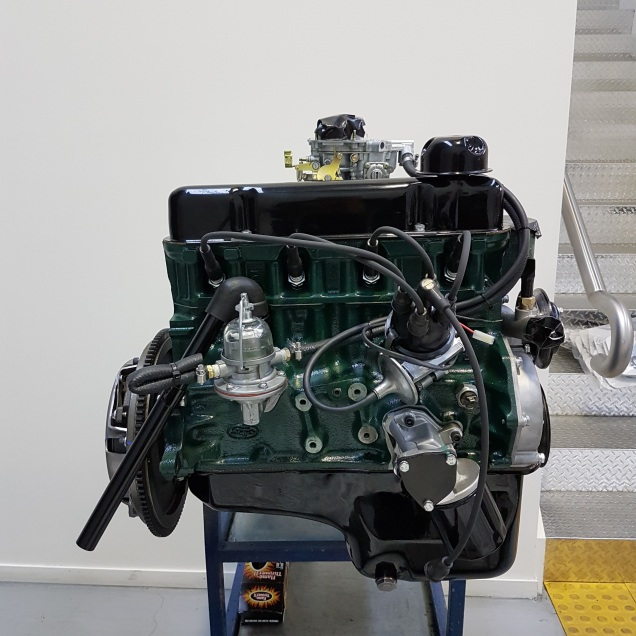 Engine colour is the original Ford Racing Green