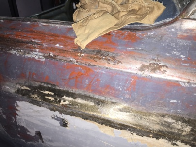 Original primer but you can see the rust around where the tucker's rivets.