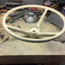 I started by sanding the wheel down.