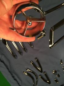 Plastic vent eyeballs re chromed.