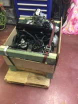 The engine was nicely packaged in the crate that I built