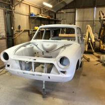 Car has now been fully stripped, which unveiled a few more old repairs.
