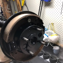 Drum liners installed