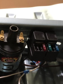 Front headlight relays and fuses.